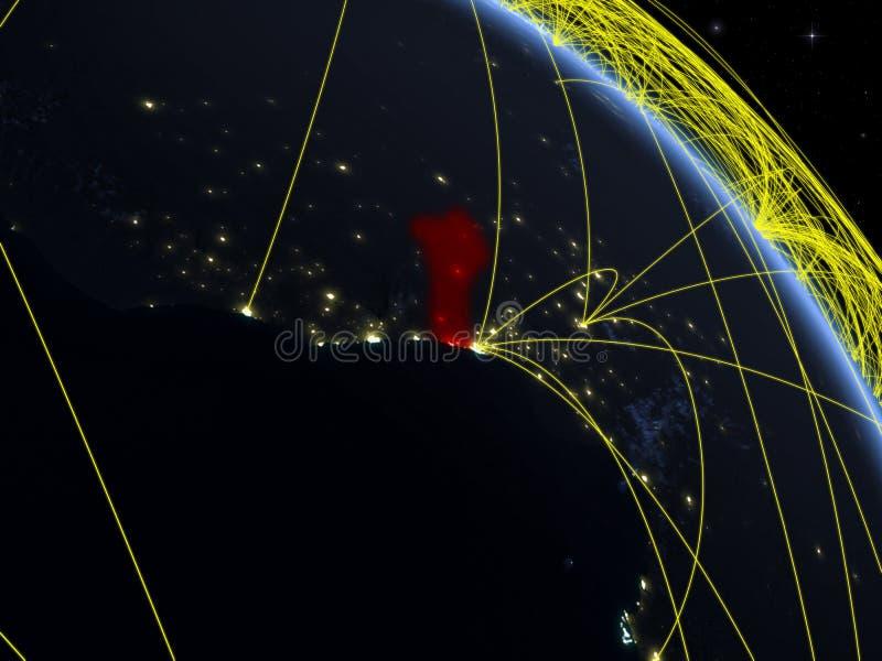 Benin del espacio con la red ilustración del vector
