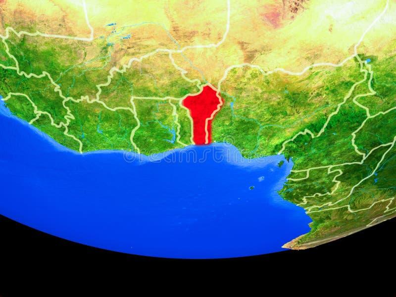 Benin del espacio en la tierra stock de ilustración