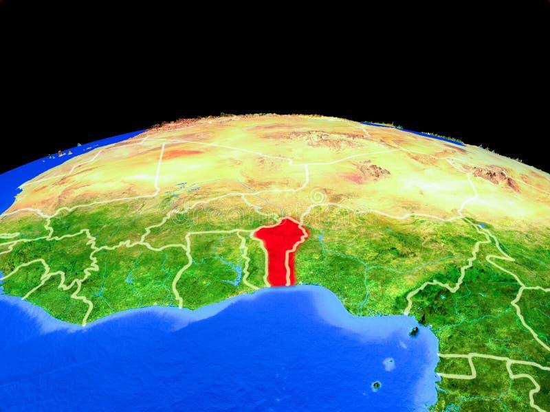Benin del espacio en la tierra libre illustration