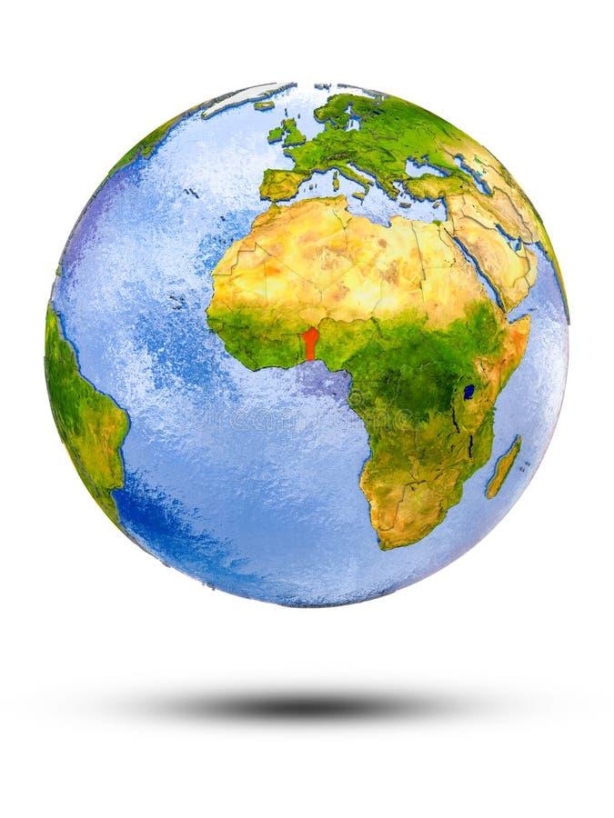 Benin en el globo ilustración del vector