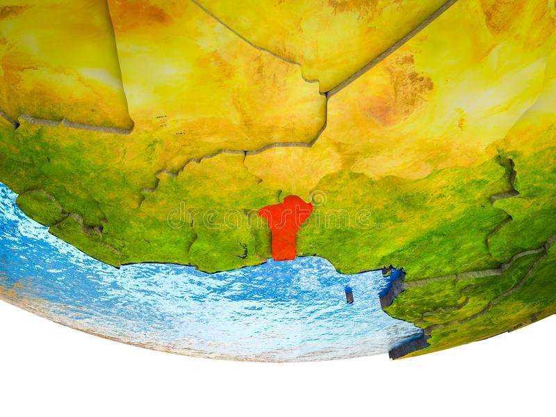 Benin en la tierra 3D libre illustration