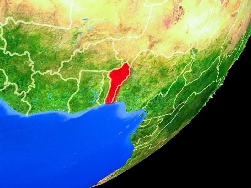 Benin en la tierra del espacio libre illustration