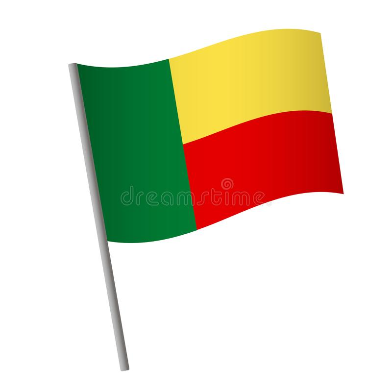 Benin flag icon royalty free illustration
