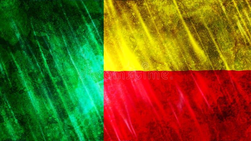 Benin flagga arkivfoto