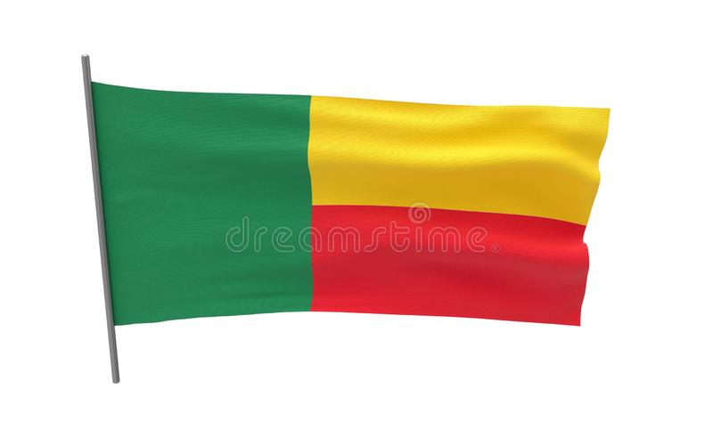 benin flagga royaltyfri illustrationer