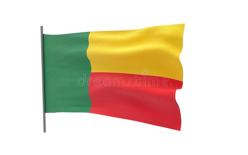 benin flagga stock illustrationer