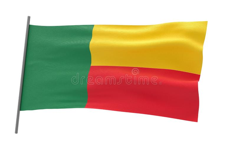 benin flagga vektor illustrationer