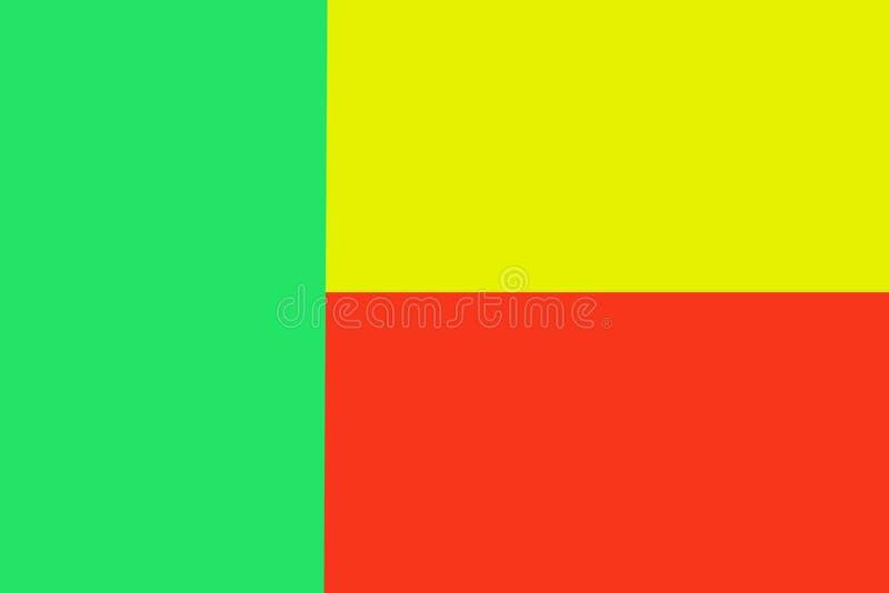 Benin flagga på patriotisk Bosnien för trätexturkanfas royaltyfri illustrationer
