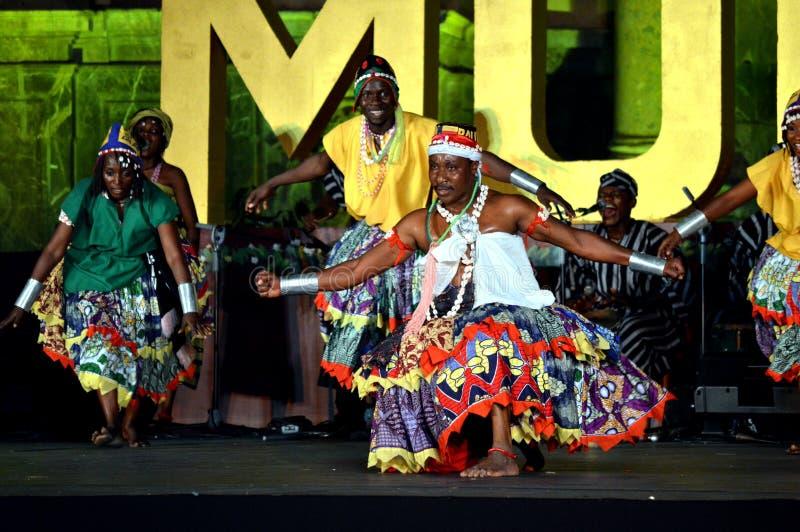 Benin Nationaal Ballet stock foto's