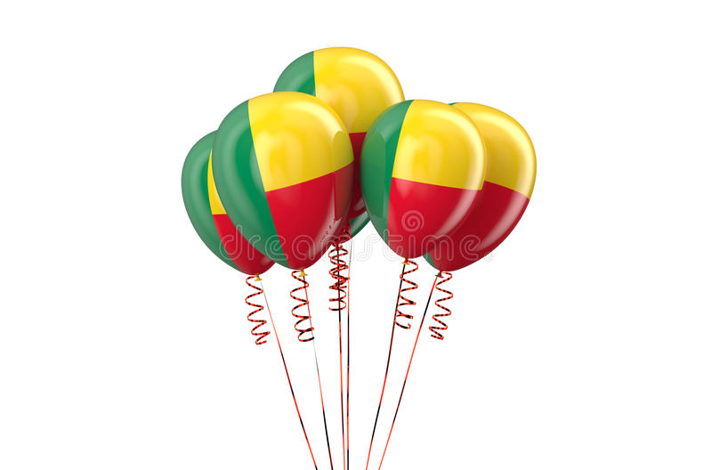 Benin patriotic balloons, holyday concept. Isolated on white background royalty free illustration