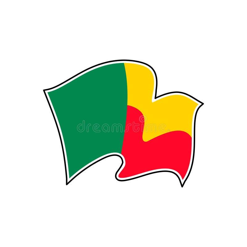 Benin-Staatsflagge Auch im corel abgehobenen Betrag Porto-Novo stock abbildung