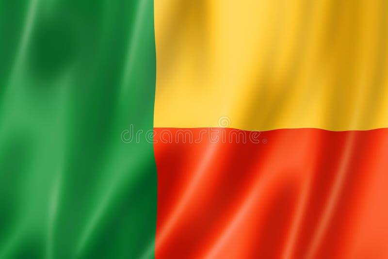 Benin Vlag stock illustratie