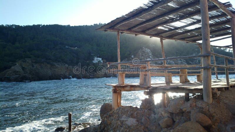Benirras plaża Ibiza zdjęcie stock