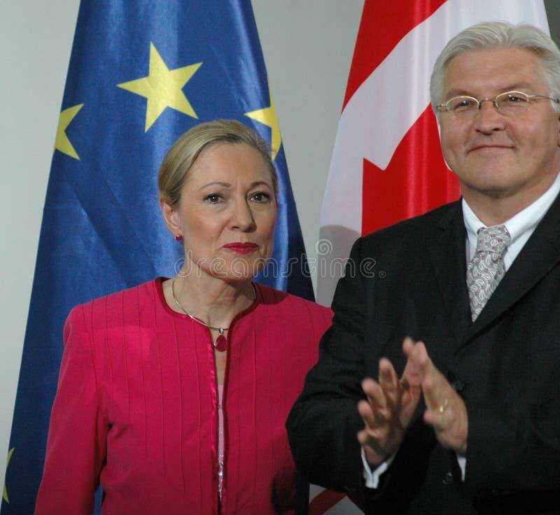 Benita Ferrero-Waldner, немецкий Министр Иностранных Дел Франк Вальтер Steinmeier стоковые изображения rf