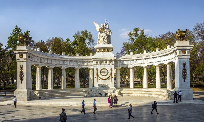 Benito Juarez monument, Historic Center, Mexico City. Benito Juarez monument in the Historic Center, Mexico City. Neoclassical monument made of marble to Benito stock image