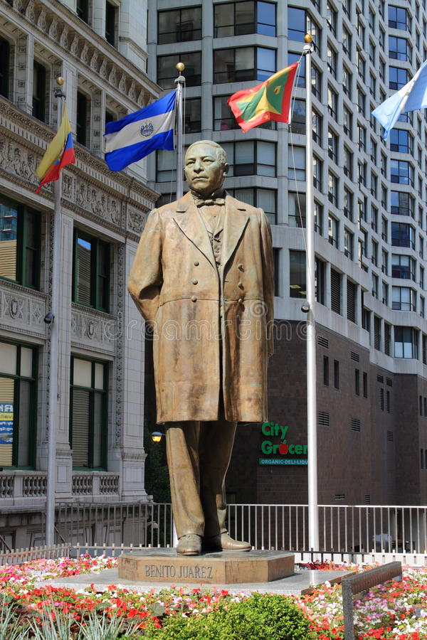 Benito Juarez Statue - Chicago royalty-vrije stock afbeelding