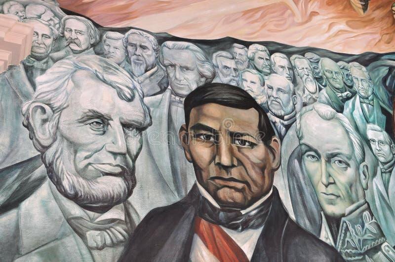 Benito Juarez und Lincoln stockbild