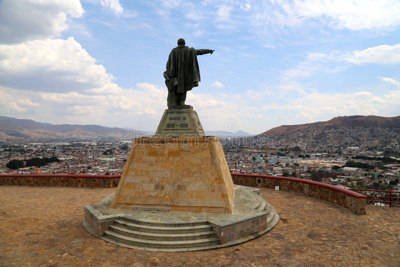 Benito Pablo Juárez García looking over Oaxaca, , Mexico. royalty free stock image