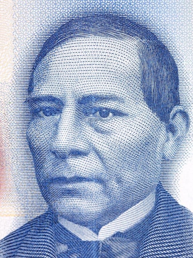 Benito Pablo Juarez GarcÃa un ritratto fotografie stock libere da diritti