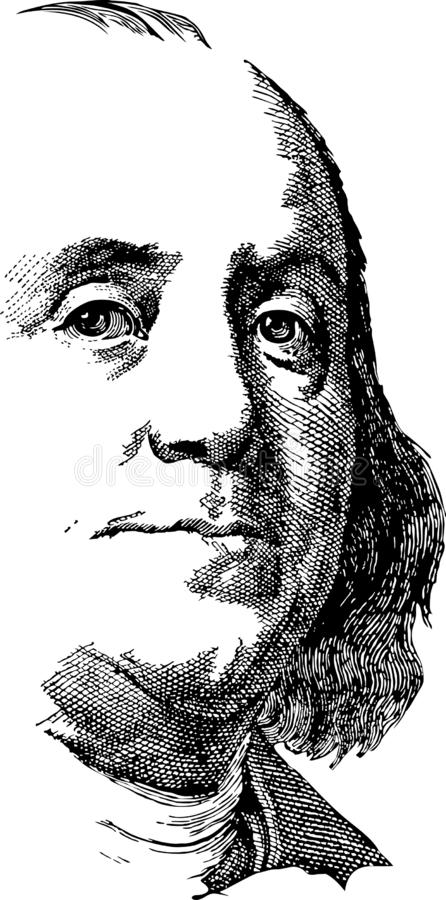 Benjamin Franklin illustration libre de droits