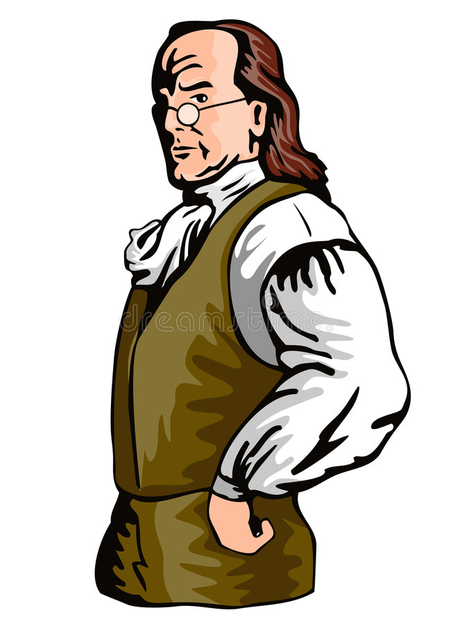 Benjamin Franklin illustration de vecteur