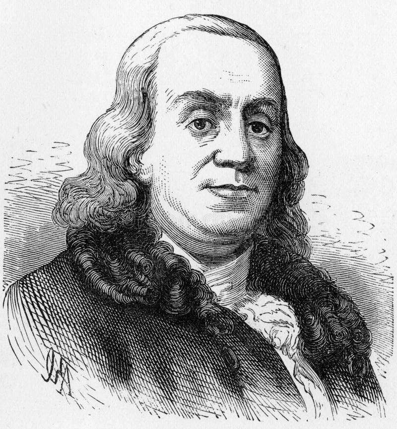 Benjamin Franklin illustration stock