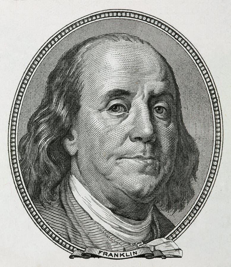 Benjamin franklin royalty-vrije stock afbeeldingen