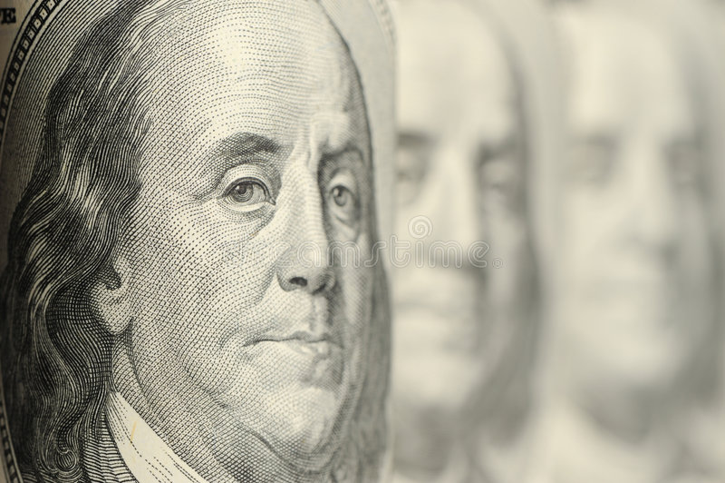 Benjamin Franklin imagens de stock