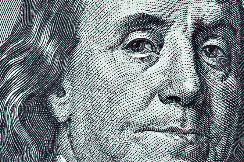Benjamin Franklin Foto de Stock Royalty Free