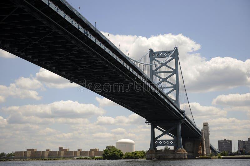 Benjamin Franklin Bridge stock afbeeldingen