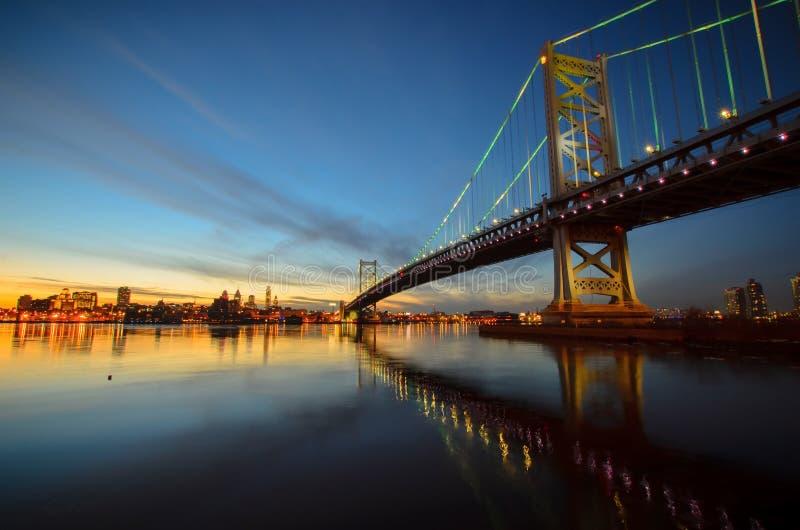 Benjamin Franklin Bridge stock foto's