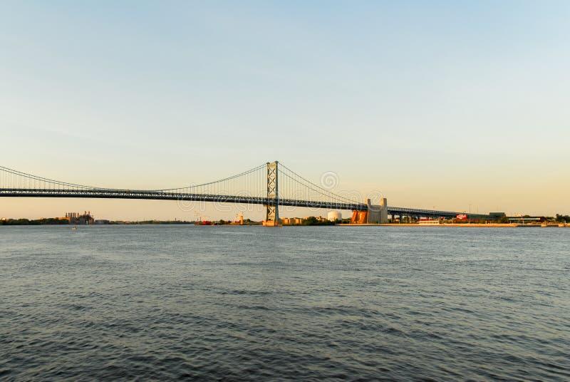 Benjamin Franklin Bridge stock fotografie