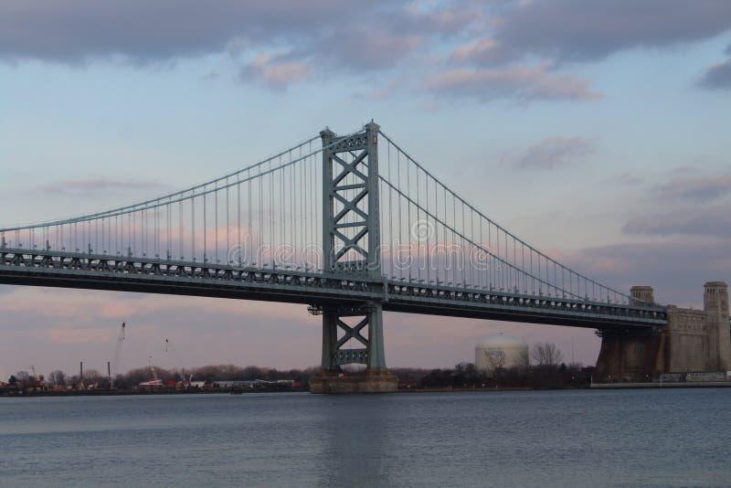Benjamin Franklin Bridge in Philadelphia royalty free stock photos