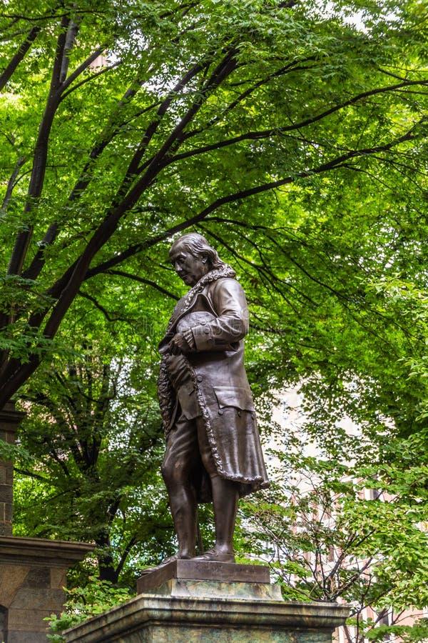 Benjamin Franklin in Bronze stock photo