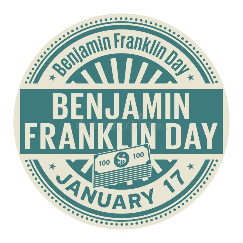 Benjamin Franklin Day, am 17. Januar stock abbildung