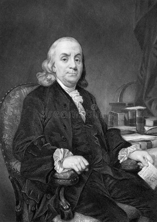 Benjamin Franklin stock image