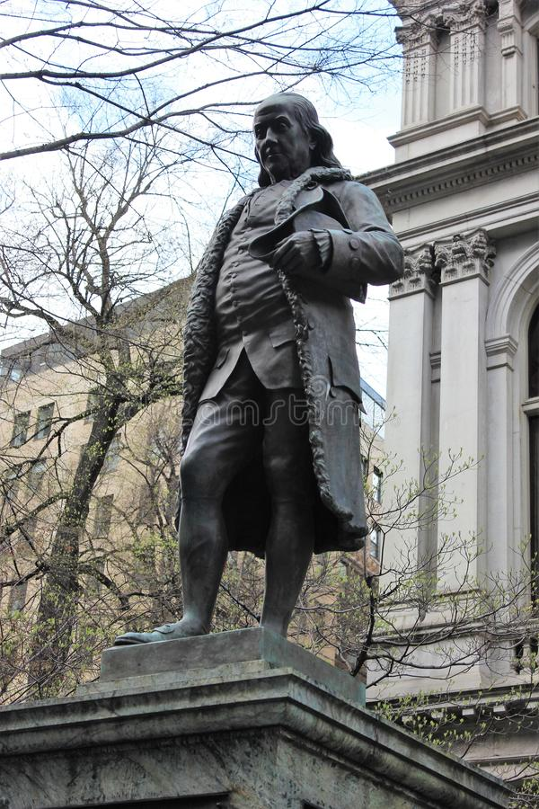 Benjamin Franklin, Freedom Trail, Boston stock image