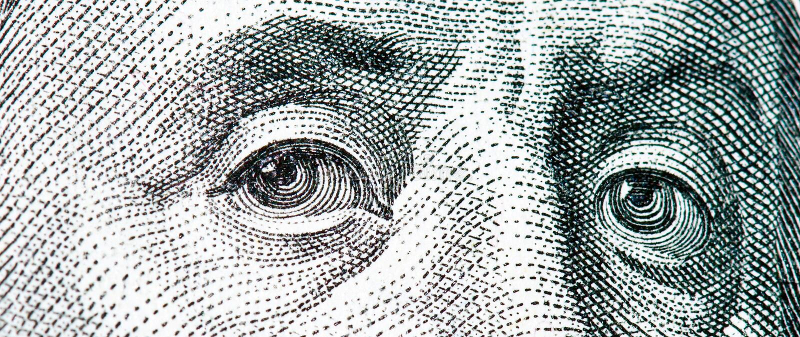Download Benjamin Franklin Macro From $100 Dollar Bill Stock Image - Image: 6471595