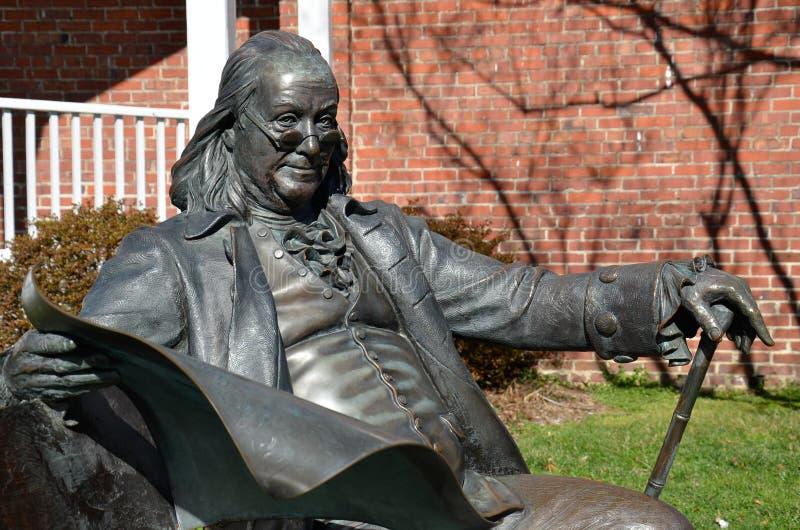 Benjamin Franklin, Main Street, Smithfield, VA stock fotografie