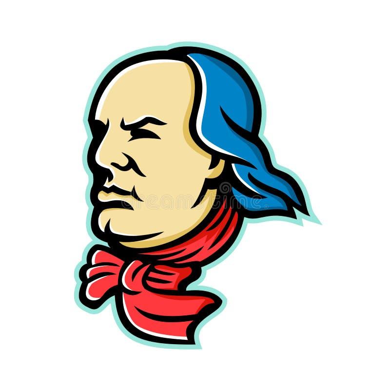 Benjamin Franklin Mascot illustrazione di stock