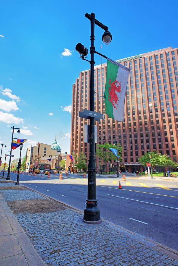 Benjamin Franklin Parkway in the City Center of Philadelphia royalty free stock image