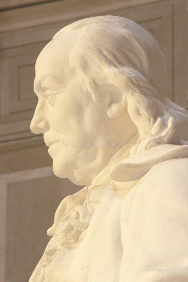 Benjamin Franklin pomnik, franklin institute, Filadelfia, Pennsylwania obraz stock