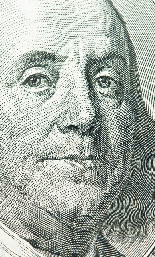 Download Benjamin Franklin Portrait From 100 Dollars Bank Stock Photo - Image of macro, banknote: 10609792