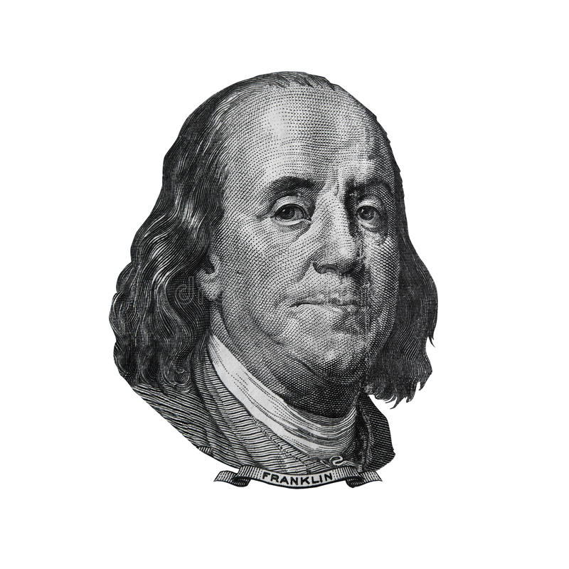 Download Benjamin Franklin Portrait Found On Hundred Dollars Bill Stock Image - Image: 41435629