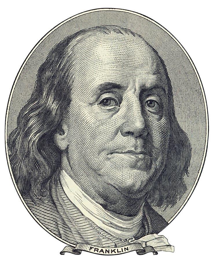 Benjamin Franklin Portret Obrazy Stock
