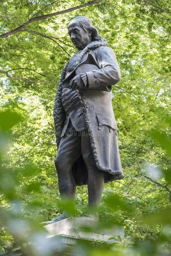 Benjamin Franklin Statue royalty free stock photography
