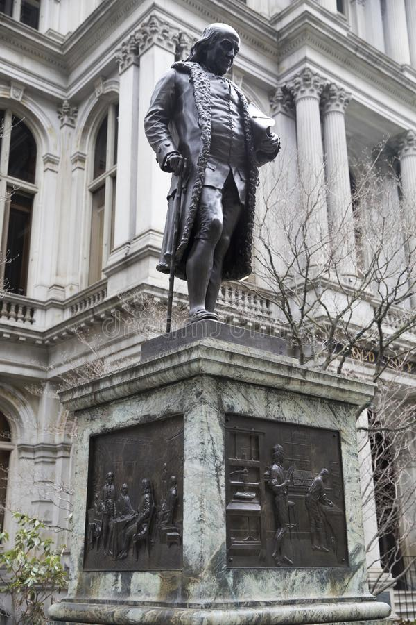 Benjamin Franklin Statue - Boston, Massachusetts, USA stock photo