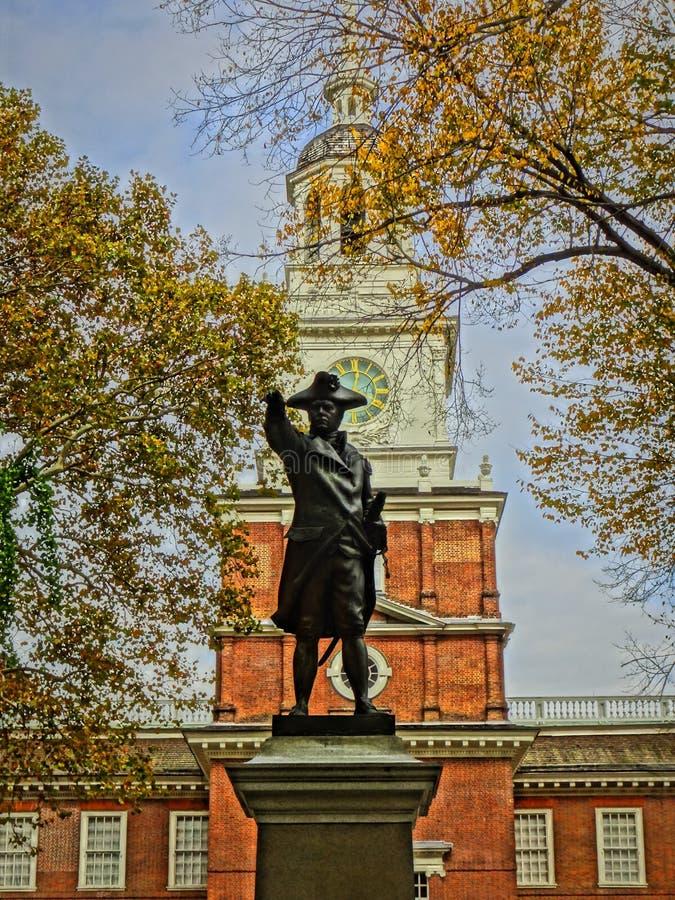 Benjamin Franklin staty royaltyfri fotografi