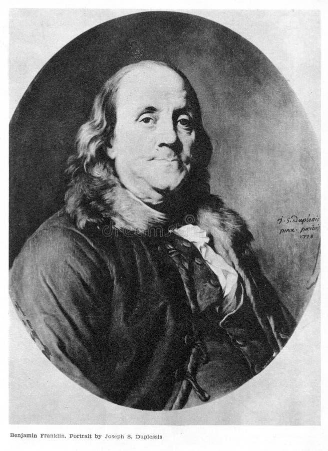 Benjamin Franklin sur le portrait photographie stock