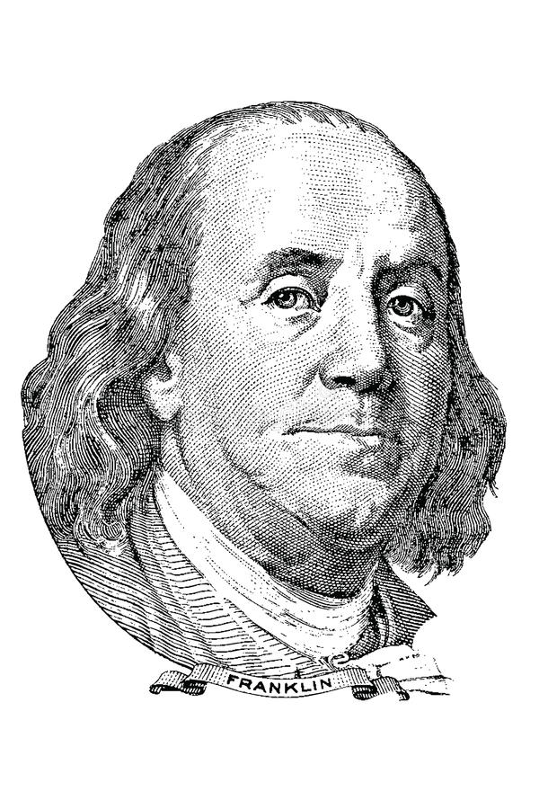 Benjamin Franklin (vector) stock illustratie
